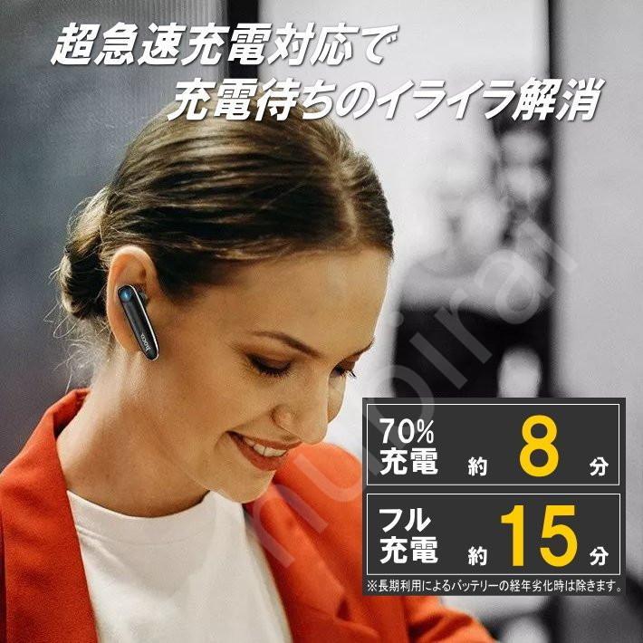 ワイヤレスイヤホン マイク タッチ操作 片耳 Bluetooth 車 車載 ハンズフリー ヘッドセット携帯電話 英語説明書 hubirai 04
