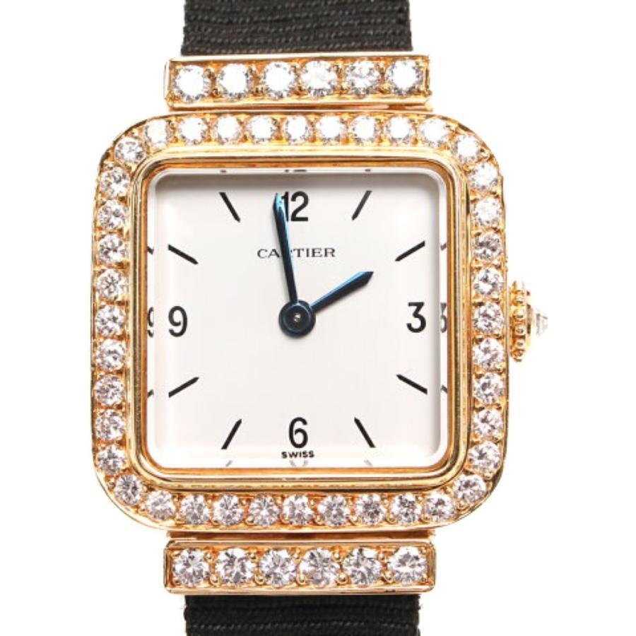 【T-ポイント5倍】 美品 カルティエ 腕時計 アンティーク 82050000 手巻き ホワイト Cartier レディース, 着太郎 682cc87c