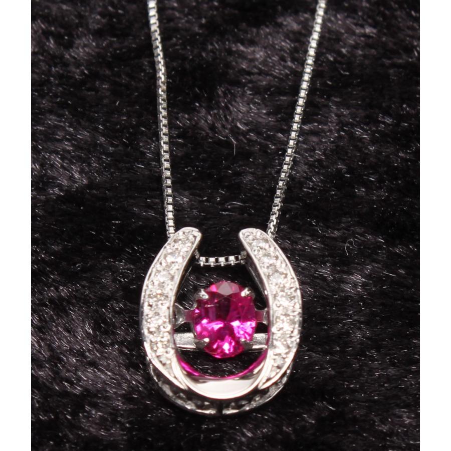 専門店では 美品 PT850 PT900 ルビー0.25ct ダイヤモンド0.07ct ネックレス ダンシングストーン レディース, ファヴォリ favori e981fc96