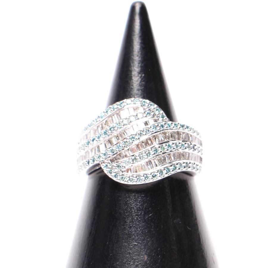 本店は 美品 ダイヤ ブルーダイヤ 1.12ct K18WG リング K18WG ブルーダイヤ ダイヤ レディース SIZE 19号 (リング), グローバルメディアデリバリー:bb8e87af --- airmodconsu.dominiotemporario.com