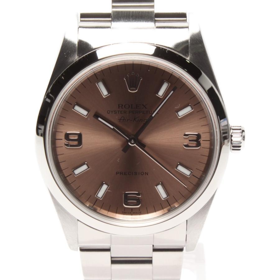 人気満点 ロレックス 腕時計 ROLEX エアキング 自動巻き ピンク 腕時計 14000 メンズ エアキング ROLEX, アートライティング:be7bef62 --- airmodconsu.dominiotemporario.com