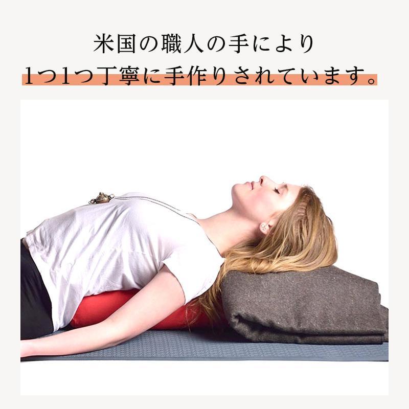 ハガーマガー ジュニアボルスター ソリッド 日本正規品  ボルスター 枕 小さめ 瞑想 クッション 高耐久|huggermuggerjapan|10