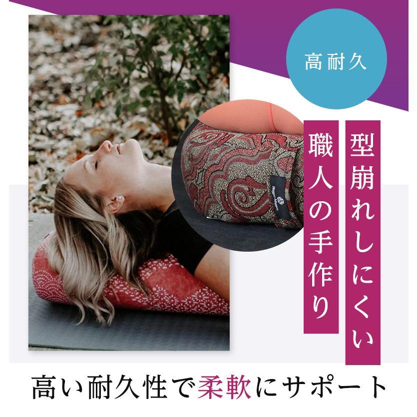 ハガーマガー スタンダードボルスター プリント 日本正規品 ボルスター 枕 瞑想 リストラティブ 人気 クッション 柄|huggermuggerjapan|03