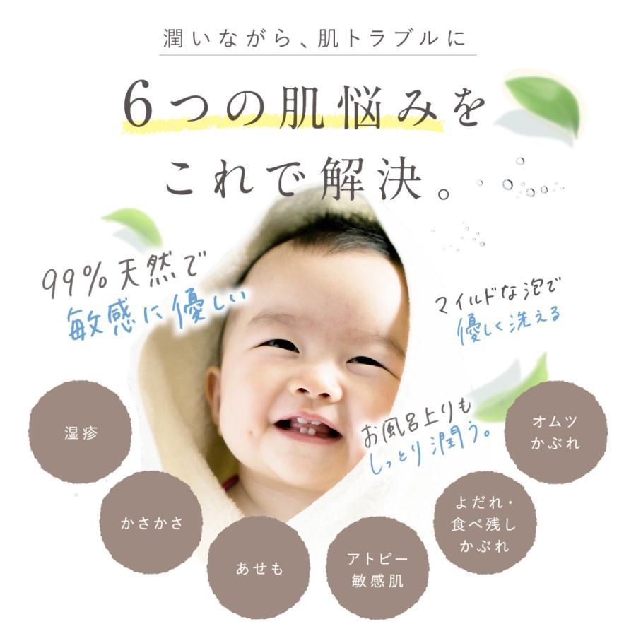モイストベビーウォッシュ 320ml  天然由来成分 バリア機能 保湿 かぶれ予防 自己保湿力 新生児 ベビー 赤ちゃん ベビーソープ hugkumiplus 04