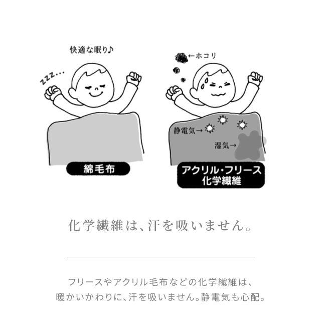 はぐまむ 綿毛布 ベビーM 日本製 三河木綿 85×115 赤ちゃん 子供 保育園 hugmamu2 05