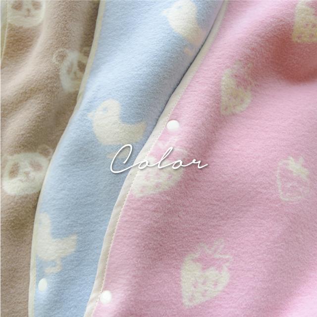 はぐまむ 綿毛布 スリーパー ベビー 肩ホック 日本製 三河木綿 着る毛布 赤ちゃん 子供 秋 冬 hugmamu2 10