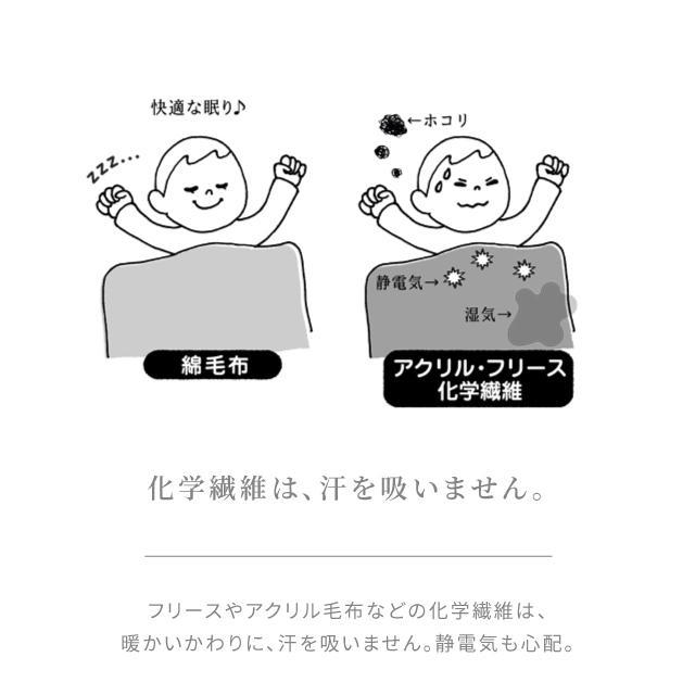 はぐまむ 綿毛布 スリーパー ベビー 肩ホック 日本製 三河木綿 着る毛布 赤ちゃん 子供 秋 冬 hugmamu2 07
