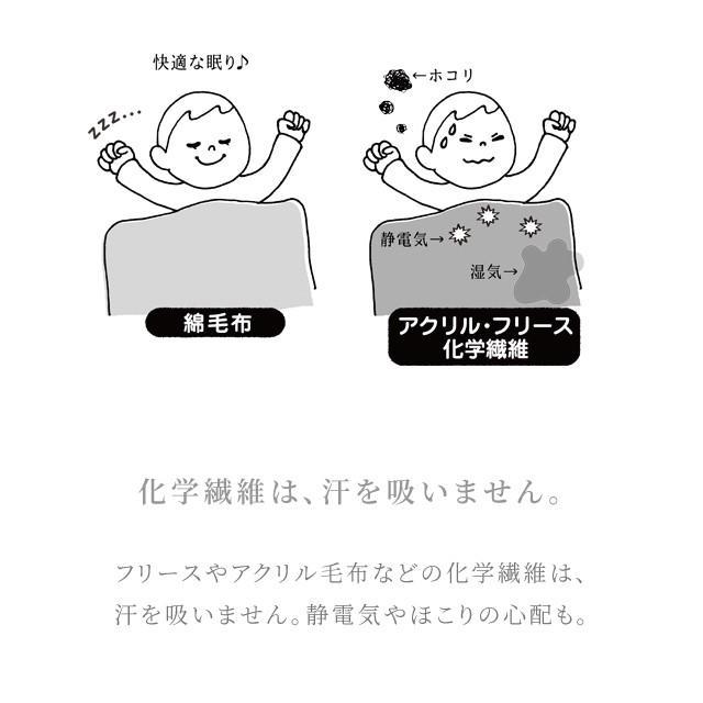 はぐまむ 綿毛布 スリーパー 新生児 ベビー ベスト 無添加 日本製 三河木綿 着る毛布 赤ちゃん 子供 秋 冬|hugmamu2|06