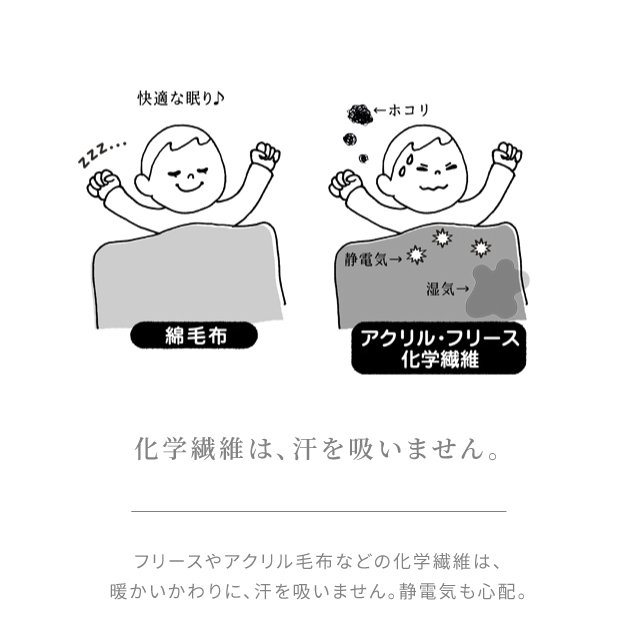 セール 3/8まで はぐまむ 綿毛布 スリーパー ベビー 2way 日本製 三河木綿 着る毛布 赤ちゃん 子供 秋 冬|hugmamu2|06