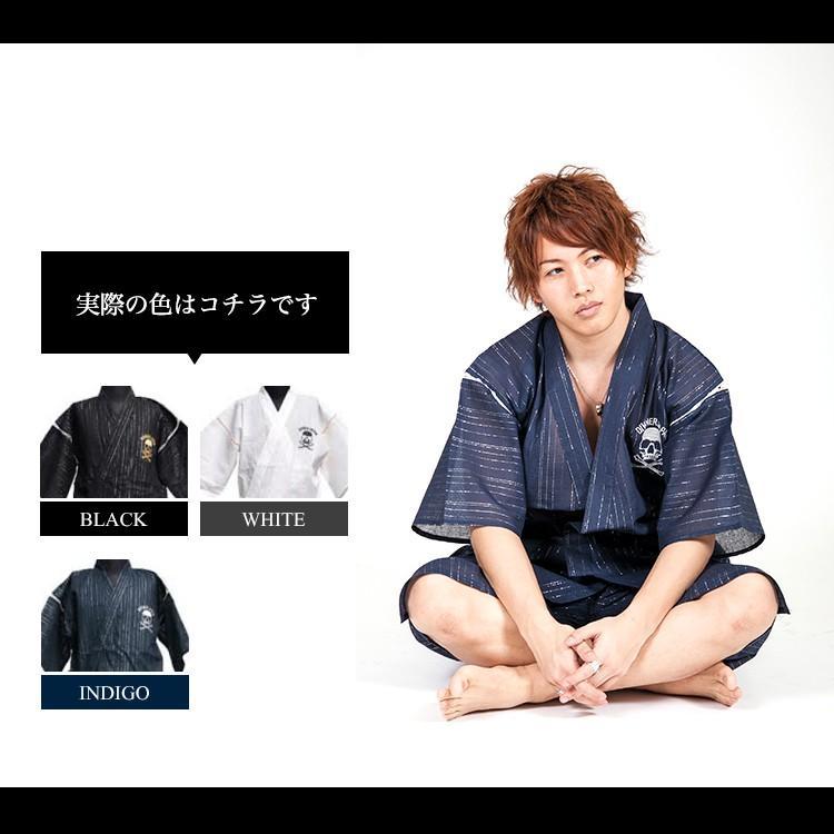 ジンベイ メンズ じんべい 男性 甚平 上下セット 2点セット 祭り 着物 浴衣 A トップス ボトムス|hukudokoro|08