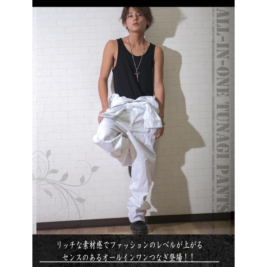 つなぎ メンズ おしゃれ ツナギ パンツ 作業服 ボトムス|hukudokoro|02