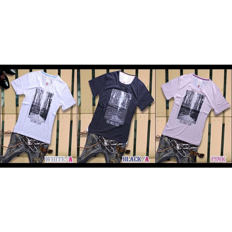 カットソー メンズ 黒 白 水色 緑 黄色 Tシャツ トップス|hukudokoro|07