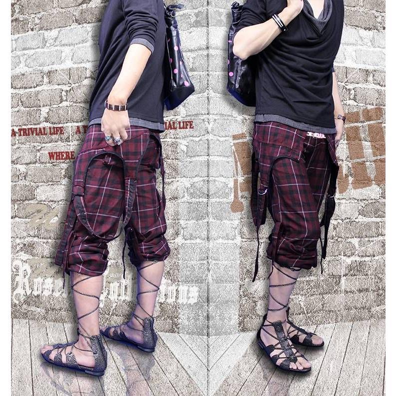 オーバーオール メンズ チェック ボトムス|hukudokoro|02