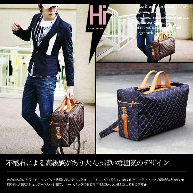 ボストンバッグ ショルダーバッグ メンズ トートバッグ ビジネスバッグ ダミエ柄 バッグ|hukudokoro