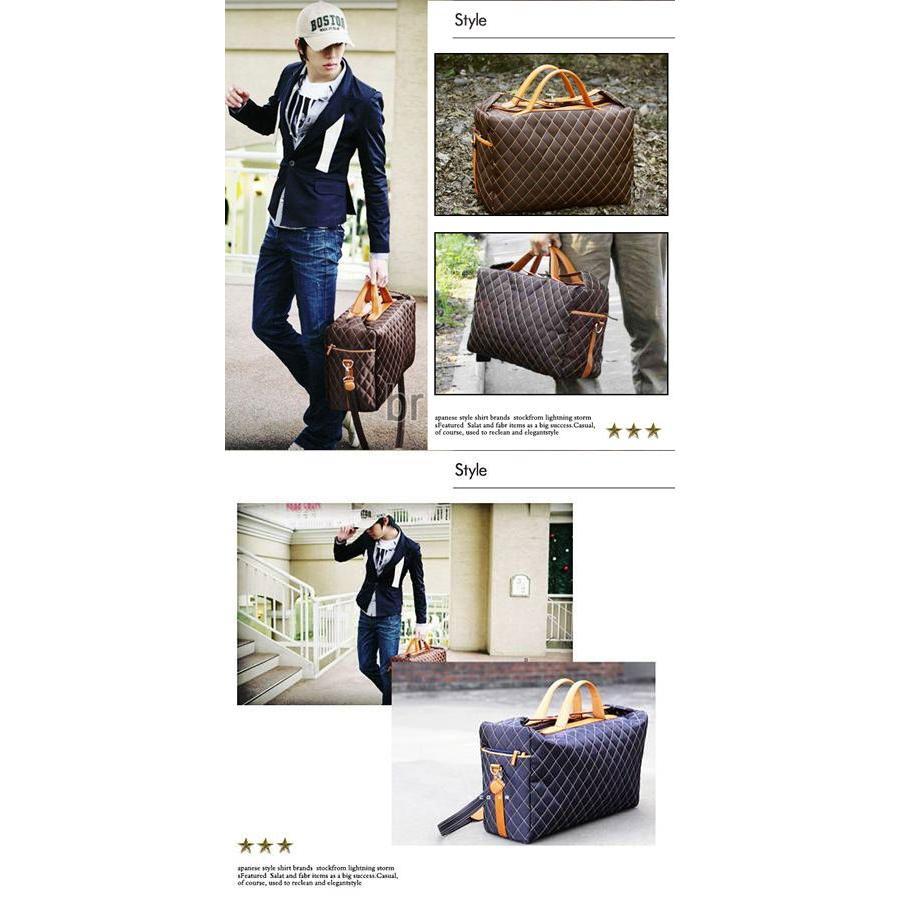 ボストンバッグ ショルダーバッグ メンズ トートバッグ ビジネスバッグ ダミエ柄 バッグ|hukudokoro|02