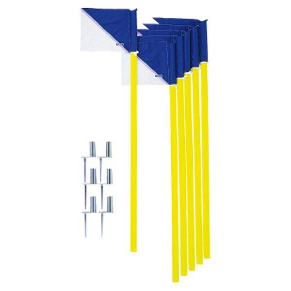 〔モルテン Molten〕 コーナーフラッグDX/サッカー用品 〔6本セット〕 パイプ:直径43mm×160cm フラッグ:39×29.5cm