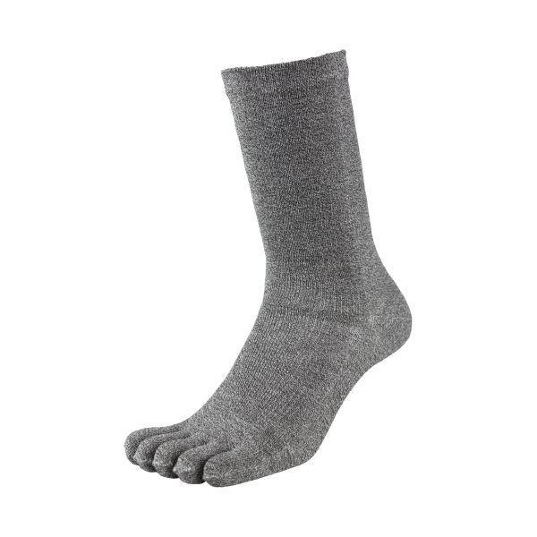 (まとめ)福徳産業 デオセル消臭靴下5本指 モクカラー L 2足組(×30セット)