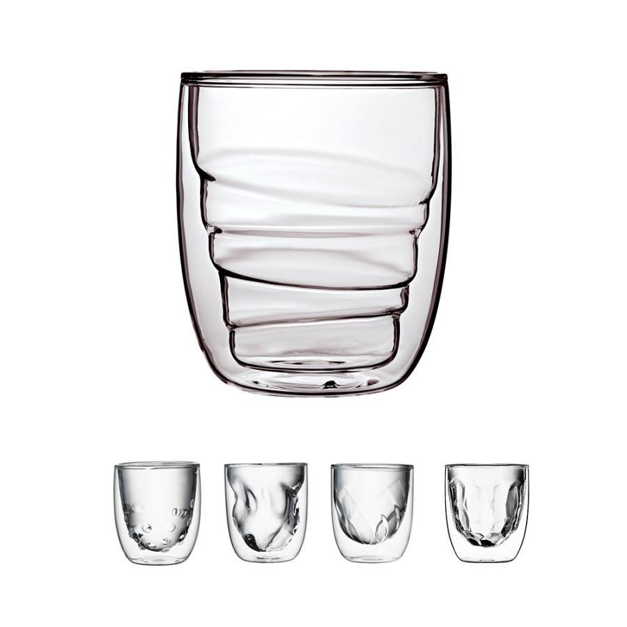 ダブルウォールグラス Qdo キュードー Element 210ml 2個セット 耐熱ガラス 保冷 保温 北欧 デンマーク 人気 インスタ映え ギフト デザイングラス 送料無料|hull-tsuhan2