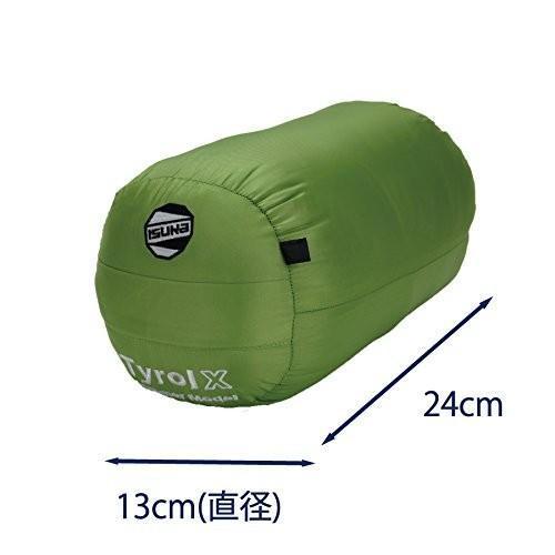 イスカ(ISUKA) 寝袋 イスカ(ISUKA) チロルX フレッシュグリーン最低使用温度6度 137830