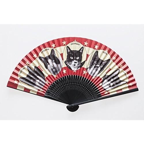 ミニチュアファクトリー (MINIATURE FACTORY) 横尾忠則 アート扇子 親子猫