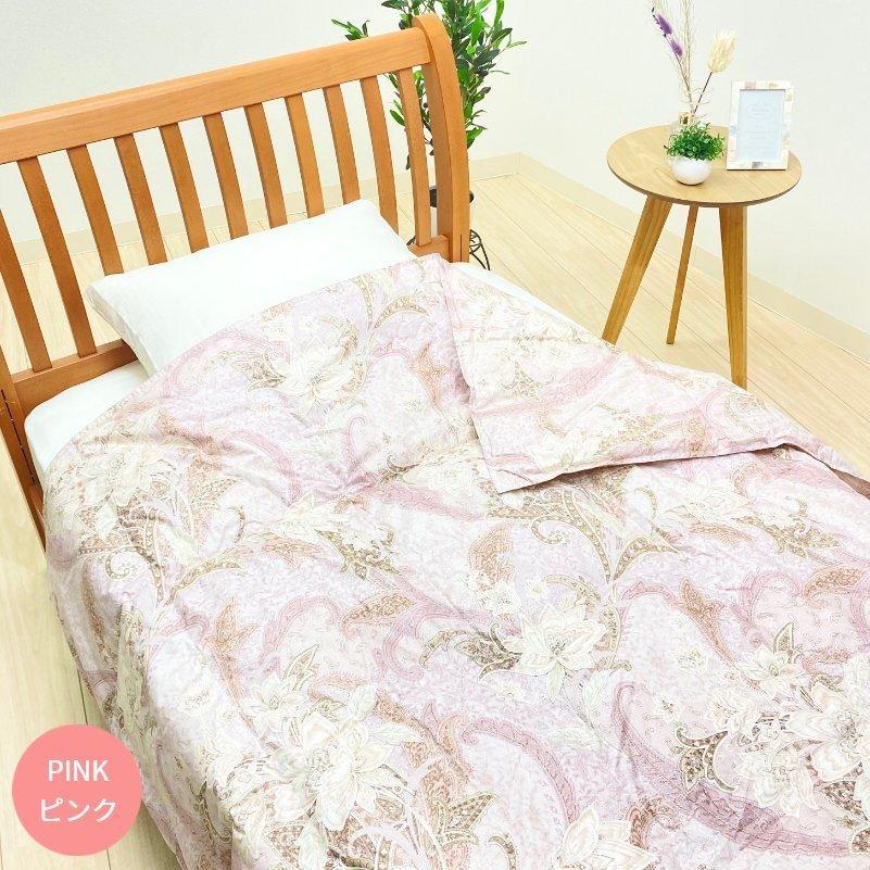 羽毛肌布団 京都西川 シングル ダウン85%  0.3kg 日本製 綿100% (3305ゴーライト)肌掛け|hutonkan|04
