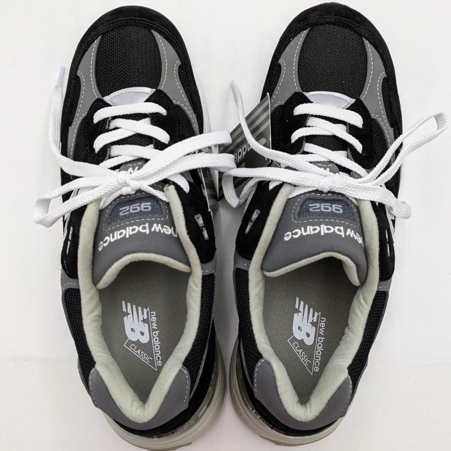 26.5cm ワイズ:D ニューバランス M992EB メンズ スニーカー ブラック/グレー/BLACK/黒 New Balance USA/アメリカ製|hw-shop|02