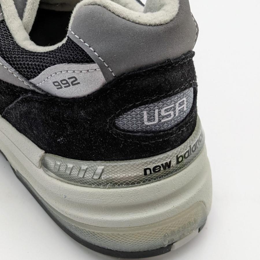 26.5cm ワイズ:D ニューバランス M992EB メンズ スニーカー ブラック/グレー/BLACK/黒 New Balance USA/アメリカ製|hw-shop|09