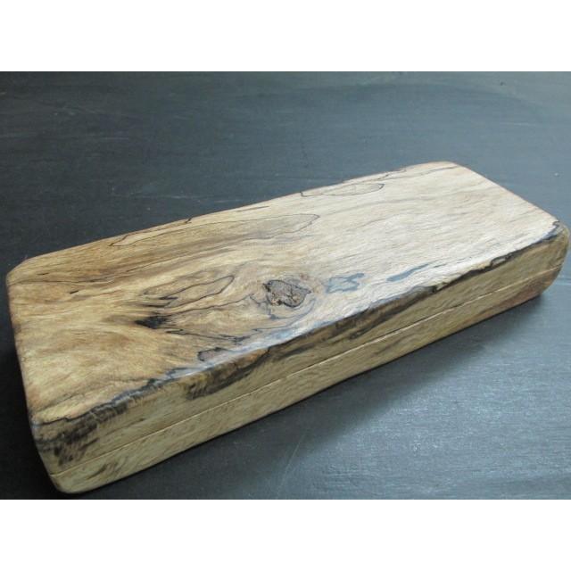 白樫スポルテッドポリウレタン仕上げくり抜き小飾り箱 木製 一枚板 銘木 飾り箱 文箱 手許箱 小型 樫の木 くり抜き 木工芸 作家