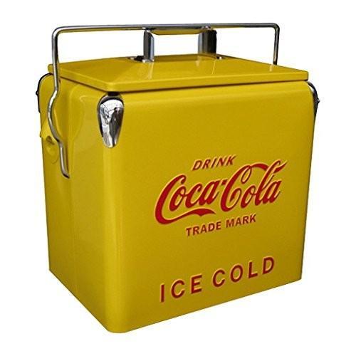コカコーラ(Coca Cola) 収納ケース・ボックス 黄 40×38×28cm 0010068-0002