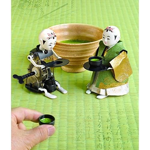 江戸のからくりロボット ミニ茶運び人形【復刻版】