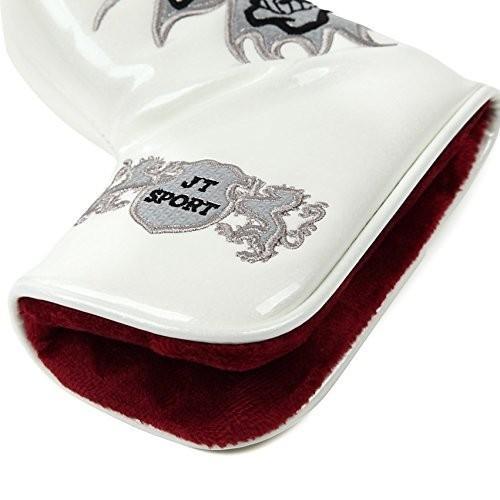 送料無料 スコッティキャメロン パターカバー スカルキング 刺繍 エナメル ピンタイプ用  磁石タイプ開閉 選べる 4色|hymall|02