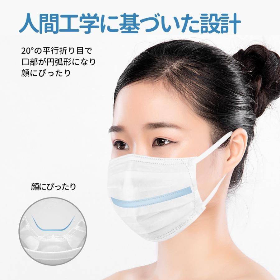 立体 マスク 不織布 カラー ホワイト Mサイズ ミディアム ふつう 165mm 50枚 個包装|hymstore|05
