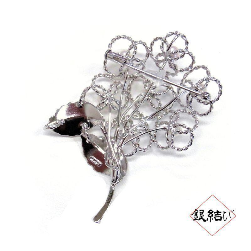 「コウベ・プレシアス・パール」本真珠シルバーブローチ 銀結び「紫陽花」|hyogo-tokusanhin|05