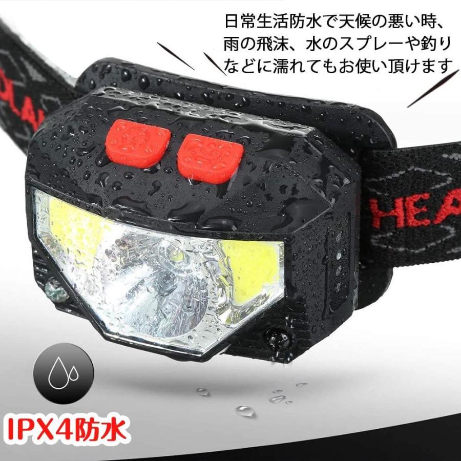 ヘッドライト 充電式 超強力 LED ヘッドランプ 釣り センサー機能 アウトドア キャンプ 登山 センサー LEDライト 作業用 防災 6モード 角度調節可 IPX4防水 hyp 06