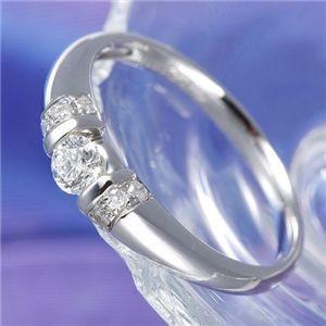 【希少!!】 0.28ctプラチナダイヤリング 指輪 デザインリング 9号, シママチ 891c43c0