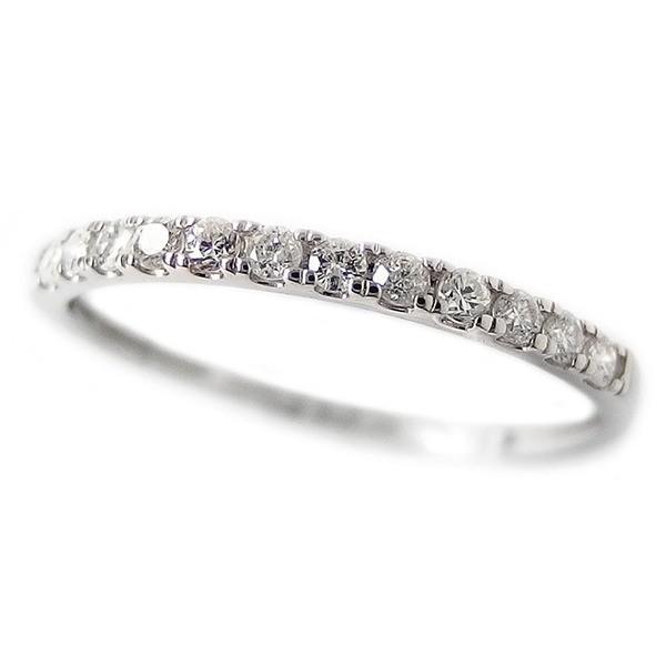 高質 ダイヤモンド リング ハーフエタニティ 0.15ct 12号 プラチナ Pt950 0.15カラット シンプル 細身 エタニティリング 指輪 鑑別カード付き, パーティーコレクション クレア cdbbe85c