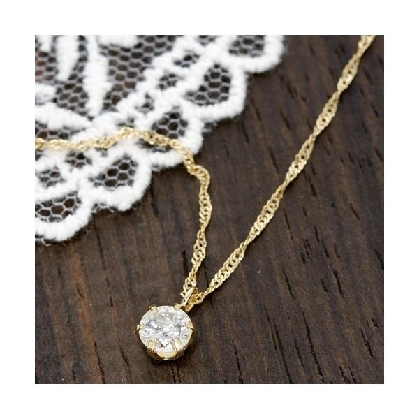 最適な材料 18金イエローゴールド(K18YG) 0.27ct ダイヤモンドペンダント/ネックレス, サウンドアウトレット Bits 68a4e693
