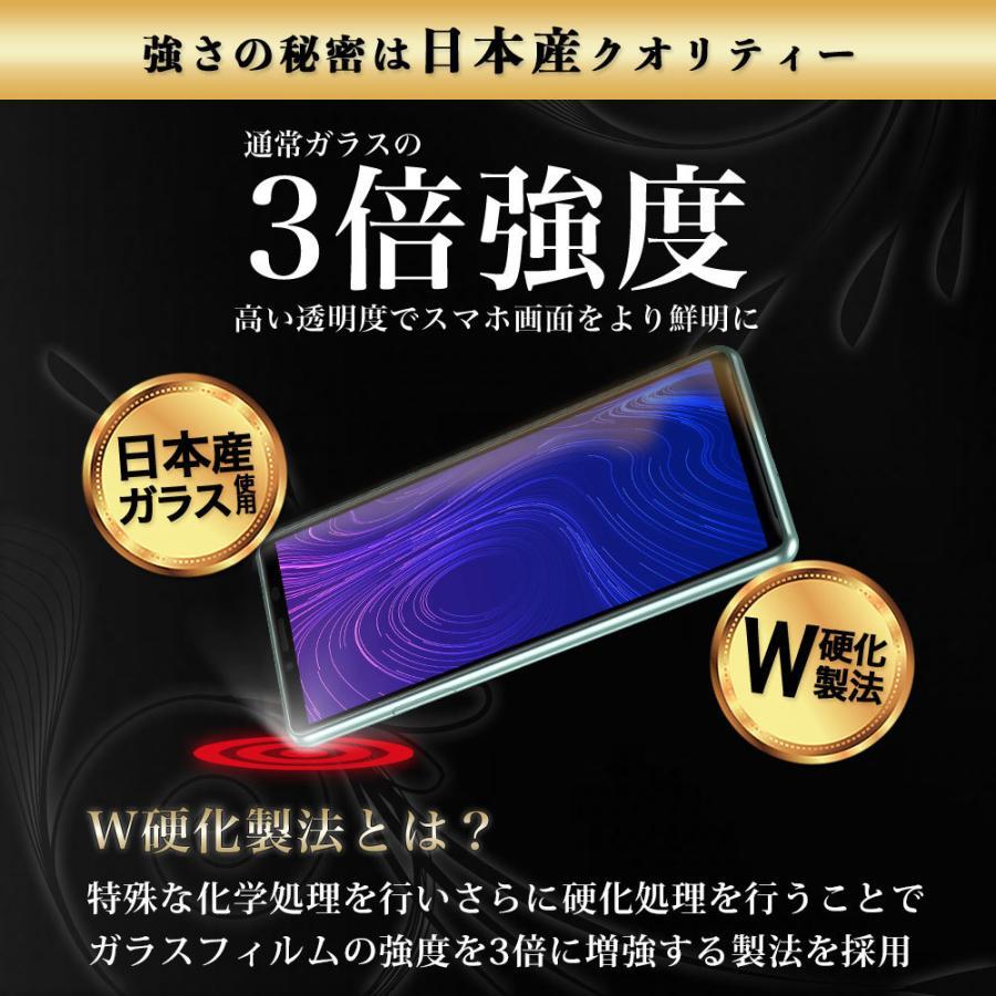 Xperia 10 II ガラスフィルム SO-41A SOV43 全面 保護 吸着 日本産ガラス仕様 hyplus 06