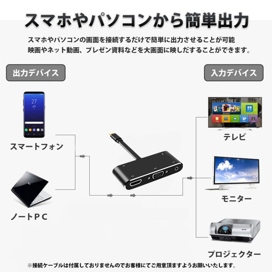 Hy+ USB-C ハブ HDMI USB-A変換 VGA出力 オーディオ出力対応 HY-TCHD5 PD充電対応 ブラック|hyplus|05