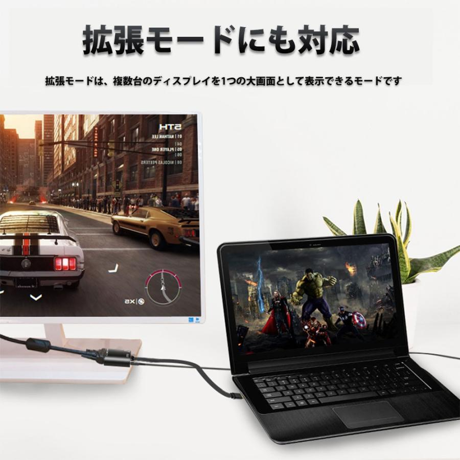 Hy+ USB-C ハブ HDMI USB-A変換 VGA出力 オーディオ出力対応 HY-TCHD5 PD充電対応 ブラック|hyplus|07