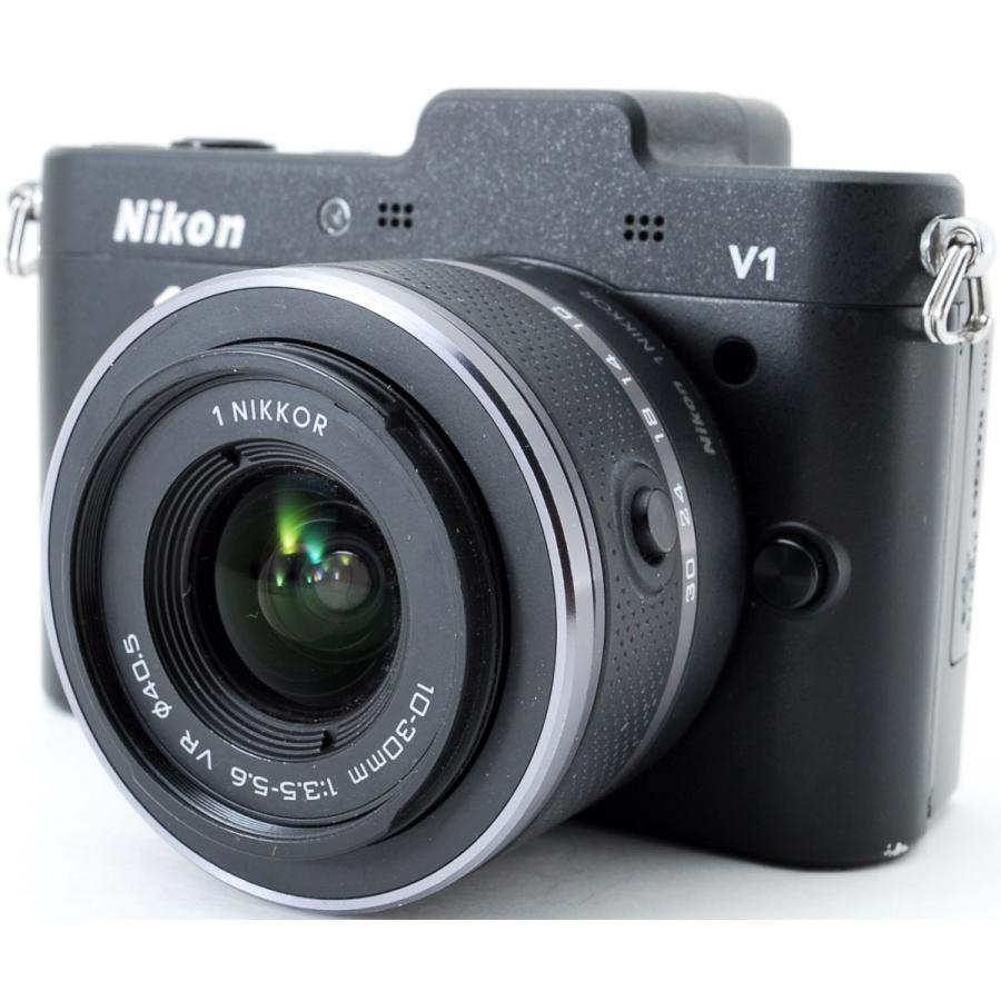 ニコン ミラーレス Nikon 1 V1 ブラック レンズキット スマホに送れる 中古|i-camera-shop