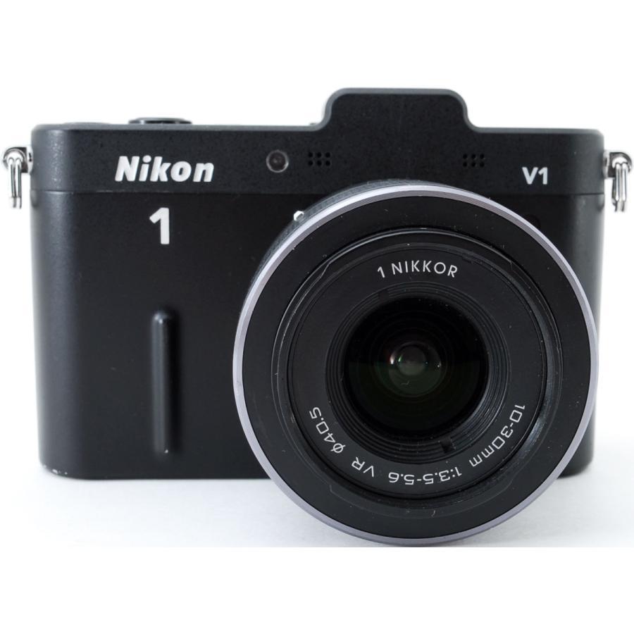ニコン ミラーレス Nikon 1 V1 ブラック レンズキット スマホに送れる 中古|i-camera-shop|02