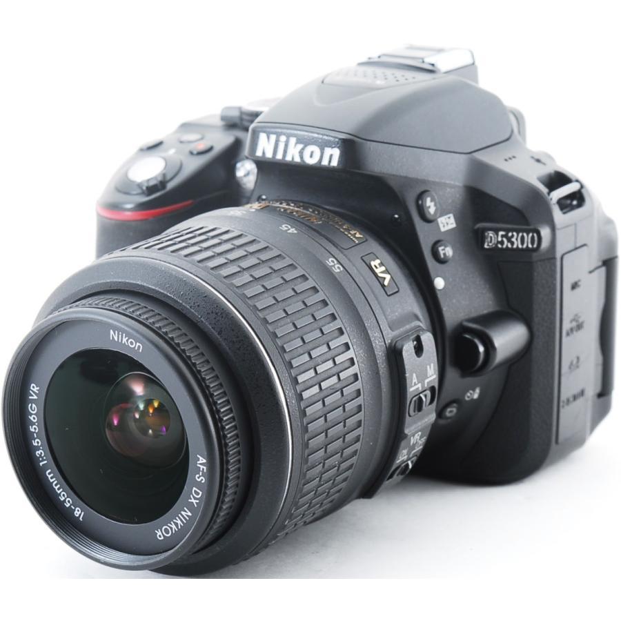 ニコン デジタル一眼 Nikon D5300 レンズキット ブラック Wi-Fi搭載 中古|i-camera-shop