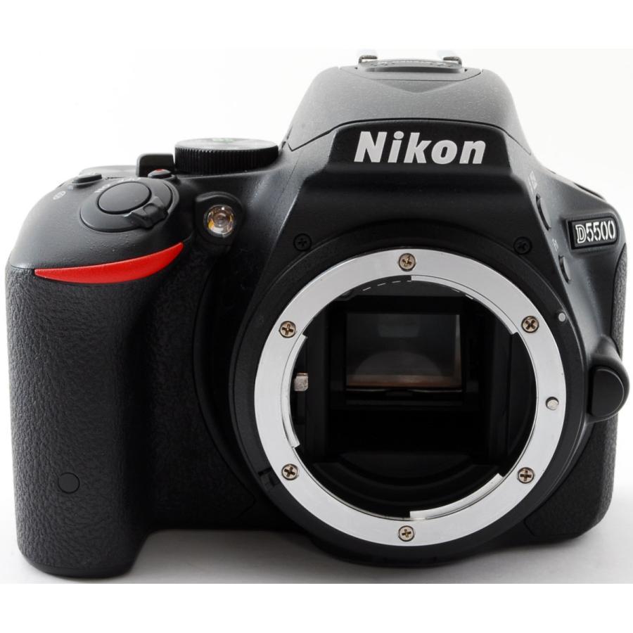 ニコン Nikon デジタル一眼 D5500 ボディ ブラック Wi-Fi搭載 中古 おまけ付き i-camera-shop