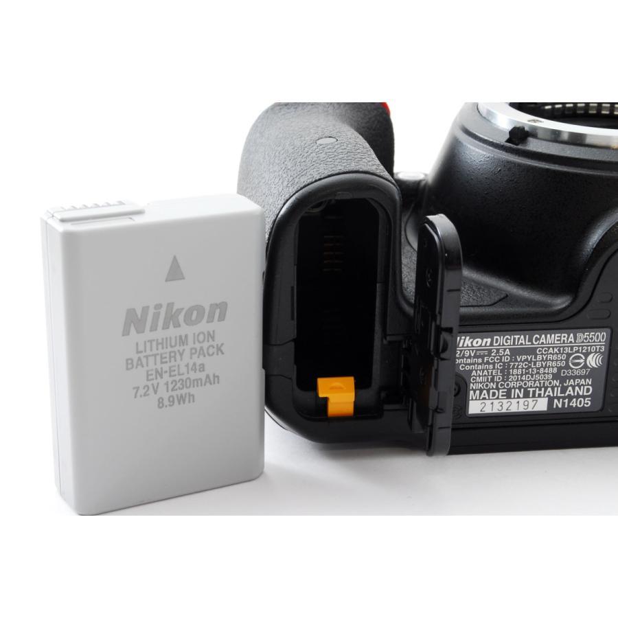 ニコン Nikon デジタル一眼 D5500 ボディ ブラック Wi-Fi搭載 中古 おまけ付き i-camera-shop 06