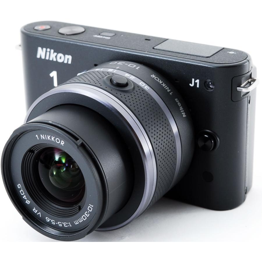 ニコン ミラーレス Nikon 1 J1 標準ズームレンズキット ブラック スマホに送れる i-camera-shop