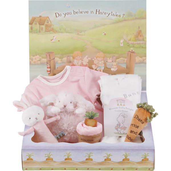 バニーズバイザベイ ロンパース·おくるみ ギフト ピンク お祝い 御祝 出産 ベビー 赤ちゃん ギフト プレゼント