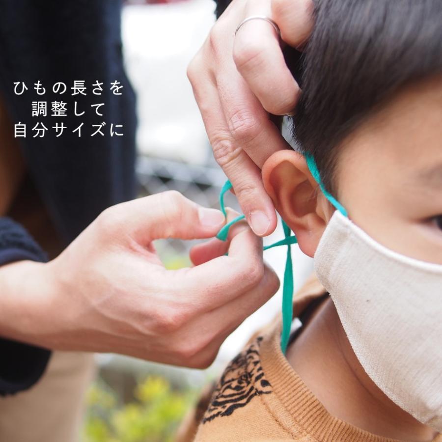 リネンマスクでつけ心地サッパリ! 中はポロシャツなどに使われる「鹿の子」生地で、乾きやすく肌に気持ちいい「ハローマスク」|i-crtshop|03