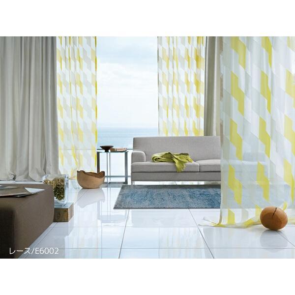 FD studio(アスワン)トルコ製シアーカーテン E6002・E6003 巾200×丈201〜220cm(2枚入) スタイリッシュウェーブ縫製 ウエイトテープ