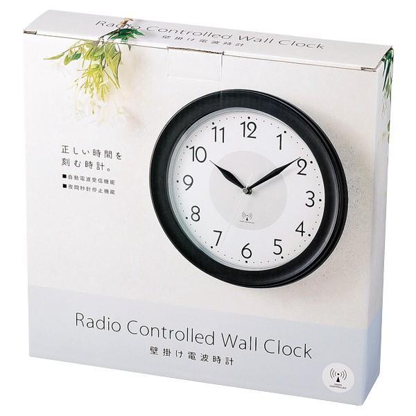 電波時計 壁掛け おしゃれ 自動電波受信 インテリア 掛け時計 1日最多8回電波キャッチ 時刻合わせの手間いらず 夜間秒針停止 シンプル ◇ 壁掛け電波時計 30584 i-shop777 05